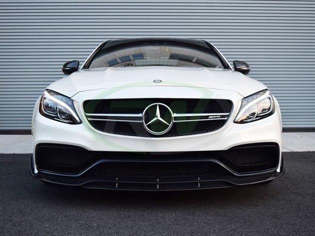 RW-Carbon-Fiber-Brabus-Style-Front-LIp-Mercedes-W205-C63-AMG-2
