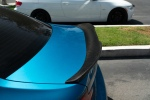 long beach blue m2 gtx style carbon fiber trunk spoiler and 3D style front lip