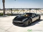 Ferrari 458 with carbon fiber front lip spoiler and rear diffuser